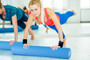 """Maximo Fitness - EVA Foam Roller – Extra Long – 6"""" x 36"""" (15 cm x 90 cm) – Trigger Point – Perfect Self Massage tool for Home, Gym, Pilates, Yoga – Instructions Included. (Blue - 90 cm)"""