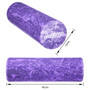 FOAM ROLLER - EVA - Superb Muscle Roller - Trigger Point - 15cm * 45cm - Perfect for Gym, Pilates, Yoga - FREE Quick Start Guide - Lifetime Warranty. (Purple/Dark Purple)