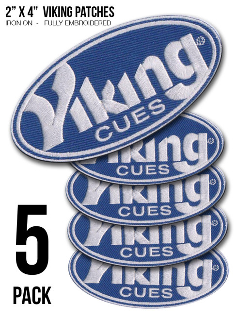 """5-PACK 2"""" x 4"""" Viking Iron-On Patches"""