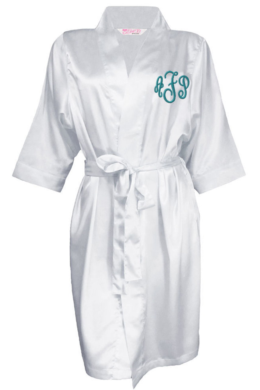 Wholesale Embroidered Monogrammed Satin Bridal Robe  43c6e3b1a