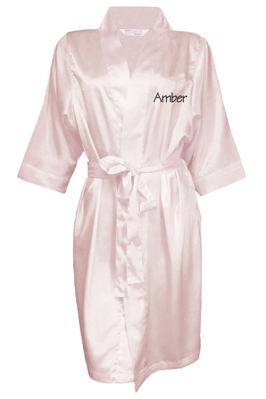 1dcb797b8 Personalized Embroidered Satin Robe with Name on Front