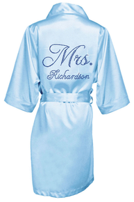 Girl ExtraOrdinaire Personalized Rhinestone Bridal robe