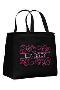 Personalized Scroll Frame Bridesmaid Tote Bag