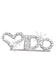 Rhinestone I Do Pin for the Bride