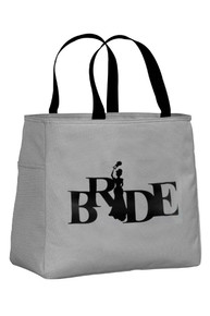 Chrome Tote Bag with Black Print