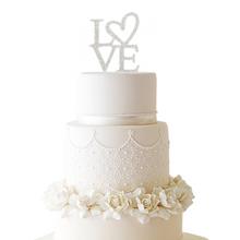 Rhinestone LOVE Cake Topper
