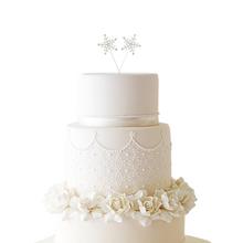 Snowflake Rhinestone Cake Topper Set