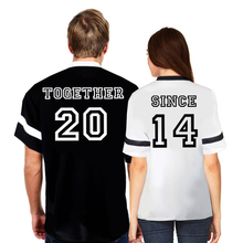 Couple Matching Together Since Print Design Jersey (Set of 2)