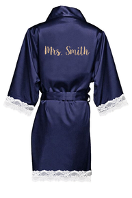 Wholesale personalized bridal satin robe