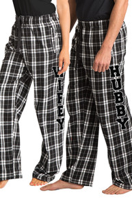 Hubby and Wifey Flannel Pajamas Pants