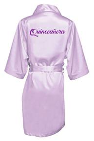 Glitter Print Quinceanera Robe