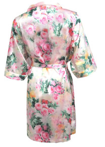 Pastel Floral Print Satin Robes