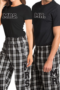 mr and mrs pajama set