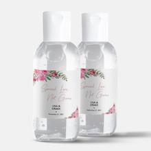 Custom 2oz Mini Hand Sanitizer Wedding Favor - Spread Love - (12 Bottles)