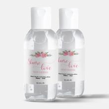 2oz Mini Hand Sanitizer Custom Wedding Favor - Pink Share Love - (12 Bottles)