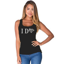 I Do with Bling Diamond Fitted Tank