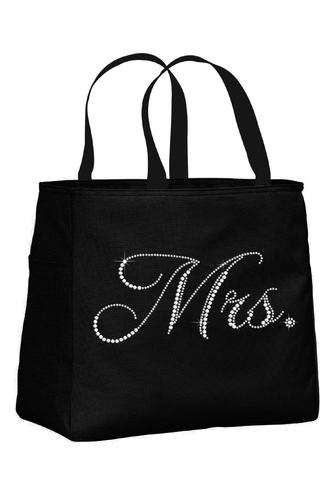 Rhinestone Mrs. Tote Bag