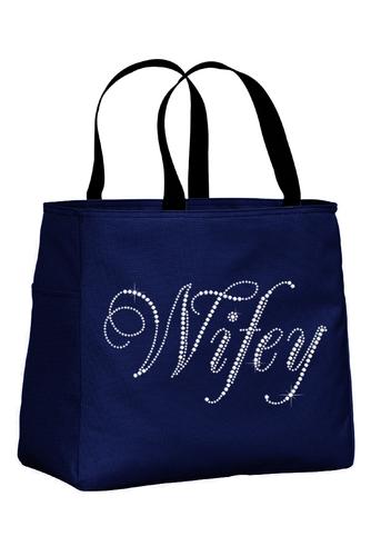 Rhinestone Wifey Tote Bag
