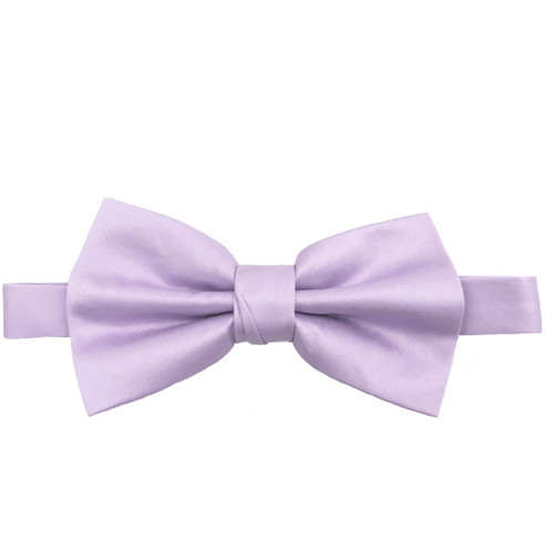 Lavender Luxury Matte Satin Bow Tie with Adjustable Clasp