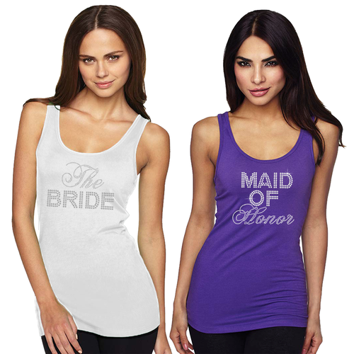 Big Bling Bridal Party Fitted Tank Top
