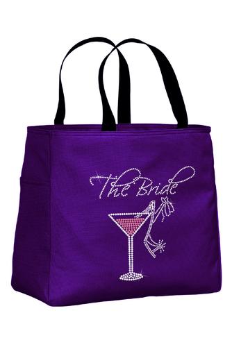 Martini and Stiletto Bride and Bridesmaid Tote Bag