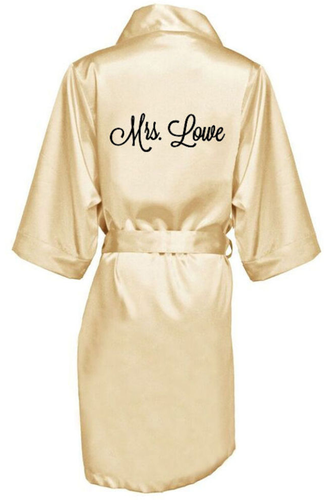 Personalized Embroidered Satin Robe