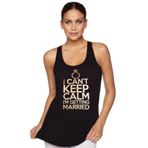 I Can't Keep Calm I'm Getting Married Racerback Tank