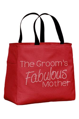 The Groom's Fabulous Mother Rhinestone Tote Bag