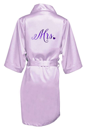 Metallic Mrs. Robe with Heart Accent