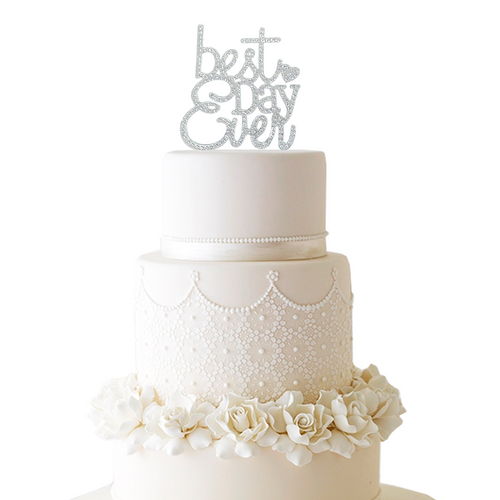 Best Day Ever Rhinestone Cake Topper