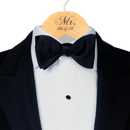 Engraved Mr. with Established Date Hanger