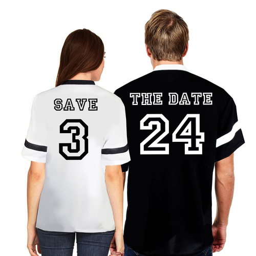 Couple Matching Save the Date Jersey