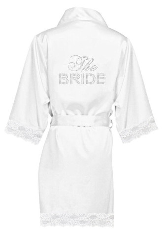 Big Bling Lace Trimmed Satin Robes