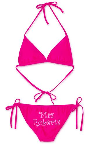 Personalized Mrs. ____ Bikini Rhinestone