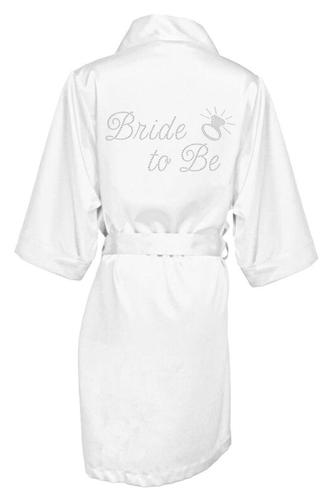 Rhinestone Bride to Be Satin Robe
