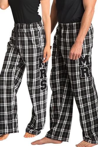 Mr and Mrs Flannel Pajamas Pants