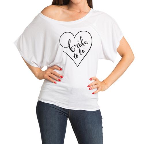Bride to Be Dolman Top - Heart Design