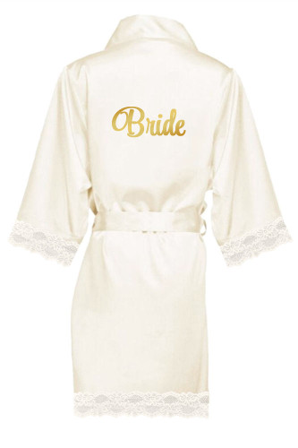 Girleo glitter Bride Bridesmaid satin robe