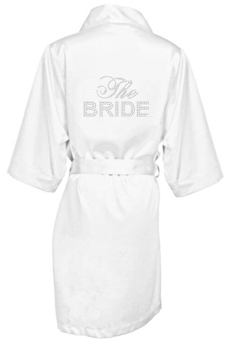 Big Bling Satin Bridal Party Robes