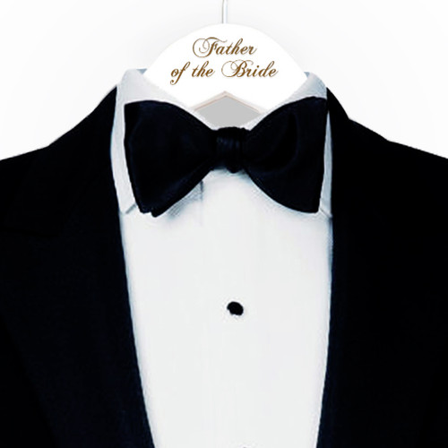 Engraved Father of the Bride Hanger