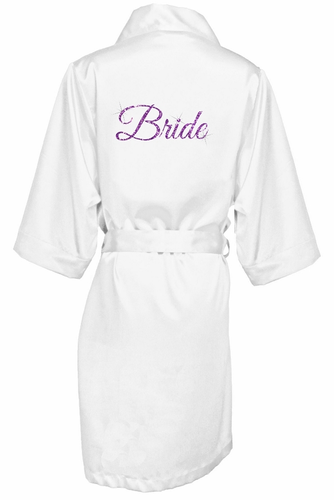 Bridal Party Robes with Custom Glitter Color