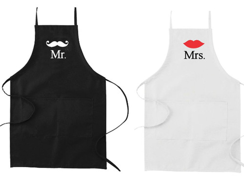 Mr & Mrs Apron Set