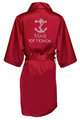 Rhinestone Bridal Party Robes with Nautical Anchor Design