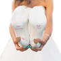 Mis Quince Shoe Stickers for Quinceanera - Light Pink