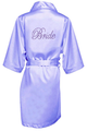 Two Stone Bride Rhinestone Satin Robe