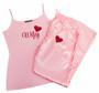 Satin Wifey Pajama Pants and Cami Set with Glitter Print