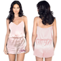 Satin Romper Embroidered with Name
