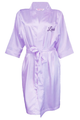 Personalized Embroidered Satin Robe with Name on Front