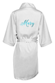 Personalized Satin Robe in Metallic Print