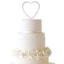 Rhinestone Heart Cake Topper